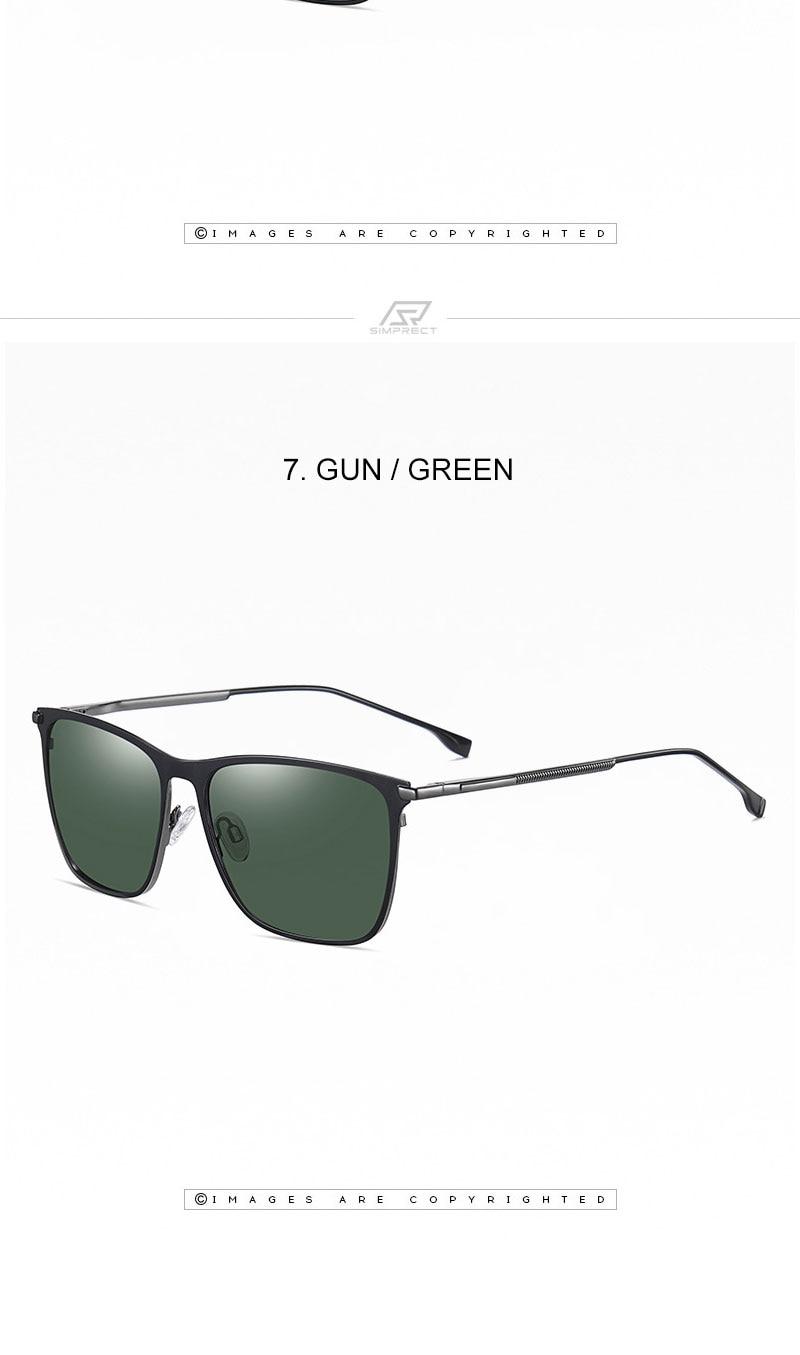 Square Polarized Sunglasses Men