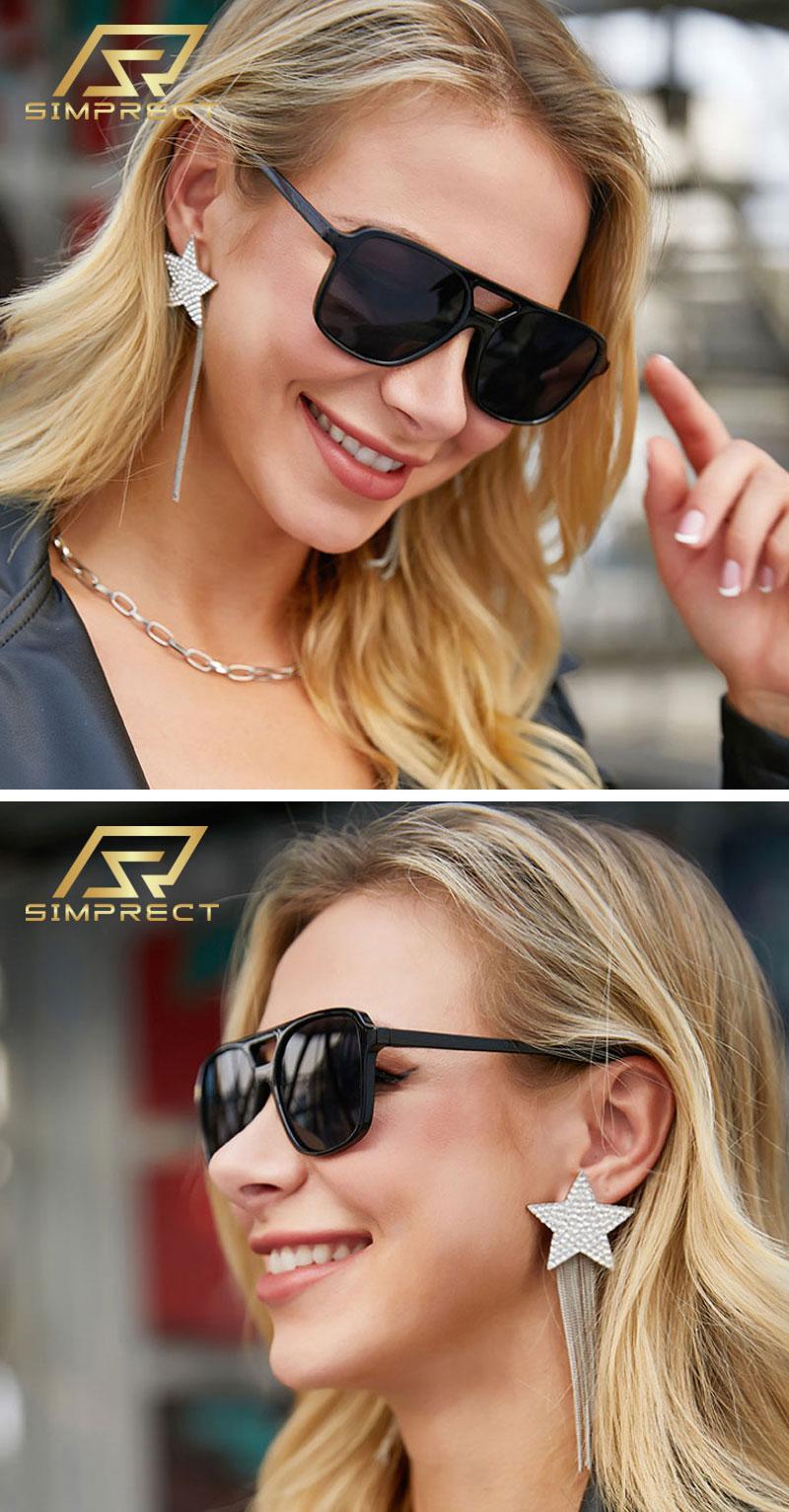 Retro Square Sun Glasses Fashion Vintage Mirror Shades